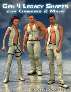 Generation 4 Legacy Shapes for Genesis 2 Male(s)