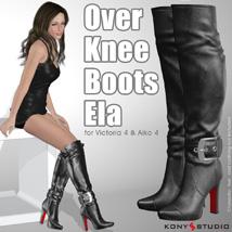 Over Knee Boots Ela