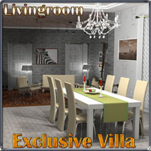 Exclusive Villa 2: Livingroom