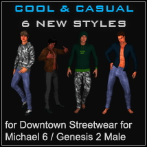 Cool & Casual Texture Add-On for Downtown Streetwear by OOT
