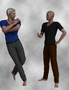 Casual T-Shirt and Pants for Genesis 2 Male(s)