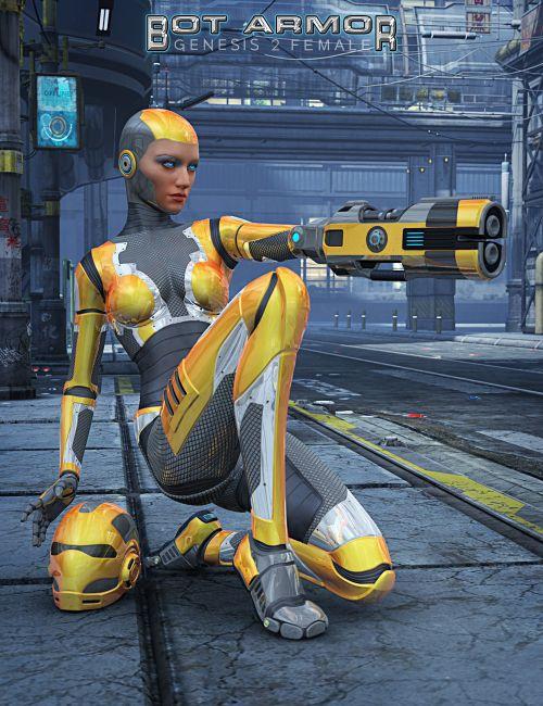 Genesis 2 Female Bot Armor Bundle