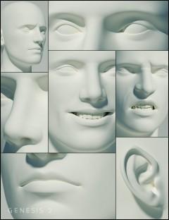 Genesis 2 Male Head Morphs