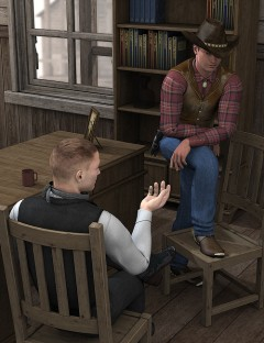 Old West Sheriffs Office Interior Poses