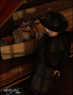 Old West Undertakers Interior Poses