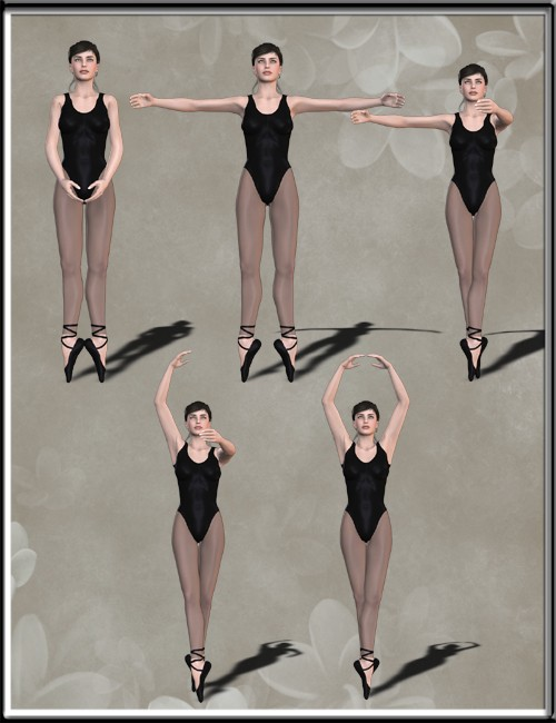 Classical Ballet Poses for Victoria 4 | 3D Models for Daz ...