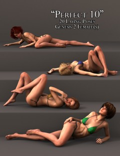 'Perfect 10' Laying Poses for Genesis 2 Female(s)