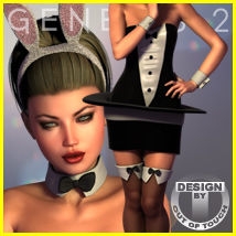 Bunny In A Hat for Genesis 2 Female(s)