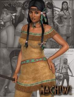 Wachiwi - Native American Character, Outfit, Hair and Poses Bundle