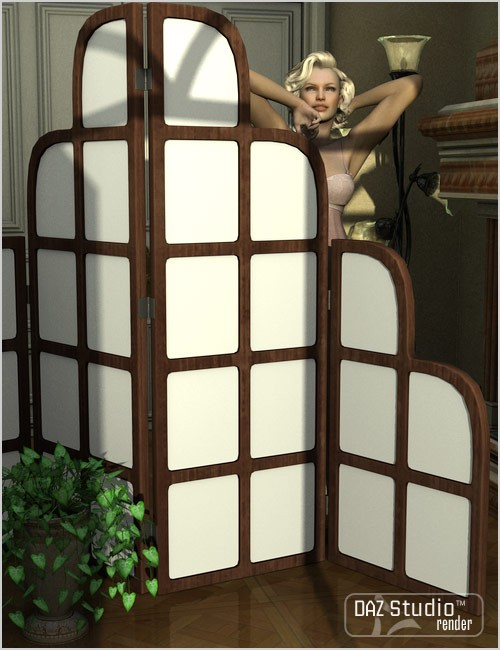 Folding Screens | Other Environments for Daz Studio and Poser