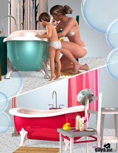 Rub-a-dub Bundle in Poser