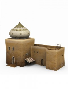 Desert Building with Onion Dome