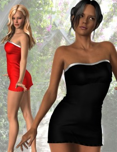 Slinky Tube Dress for Genesis 2 Female(s)