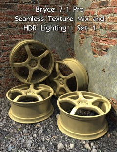 Bryce 7.1 Pro- Seamless Texture Mix and HDR Lighting- Set 1