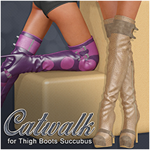 Catwalk for Thigh Boots Succubus
