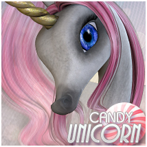 Candy Unicorn Mane/Hair