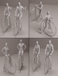 Old Fashioned Bicycle Poses for M5/V5