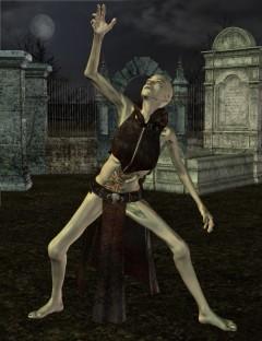 Ghoul Girl Poses