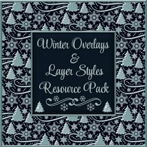 Design Resource: WINTER Overlays & Layer Styles Pack
