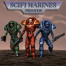 Scifi Marine Trooper M4