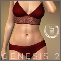 Paradise Lingerie for Genesis 2 Female(s)