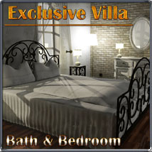 Exclusive Villa 1: Bath and Bedroom