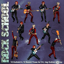Rock School V4 Jag Poses