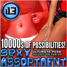 i13 Sexy ASSORTMENT pose collection for V4