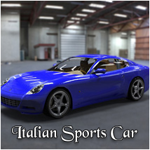 Italian Sports Car (poser, 3ds, vue, obj)