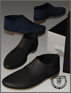OOT HOMME Shoes 1 for Genesis 2 Male(s)