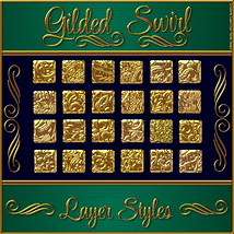 Gilded Swirls Layer Styles