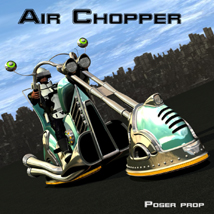 Air chopper poser prop