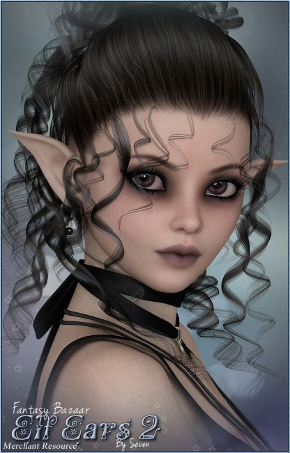 Sv7 Fantasy Bazaar Elf Ears 2 Morphs And Deformers For Poser