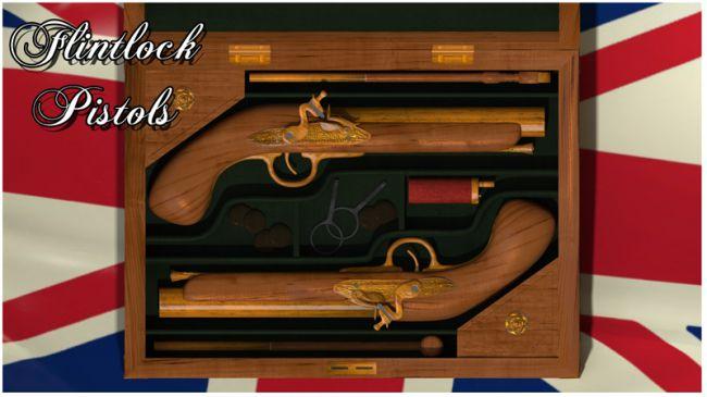 Flintlock Pistol and case