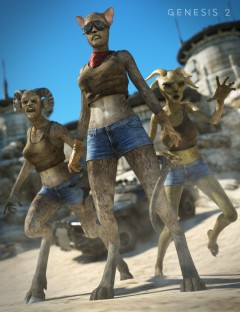 Creature Creator Add-ons for Genesis 2 Female(s)