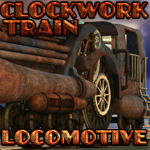 Clockwork Train Locomotive