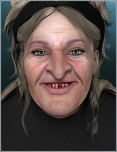 Greta the Old Hag for Genesis 2 Female