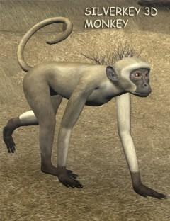 SilverKey 3d Monkey