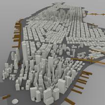 Manhattan Island Cityscape (for Wavefront OBJ)