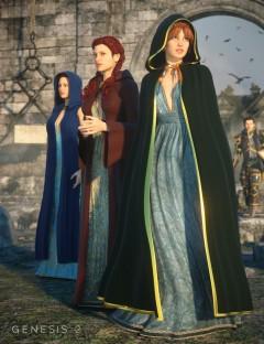 Medieval Cloaks for Genesis Female(s)
