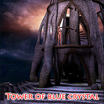 Tower of blue crystal