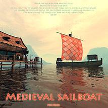 Medieval sailboat