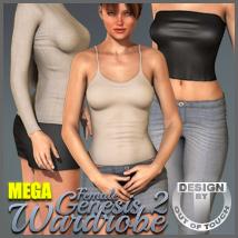 Genesis 2 Female's MEGA Wardrobe- V6/G6/Gia