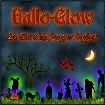 HALLO-GLOW Layer Styles with FREE GIFT
