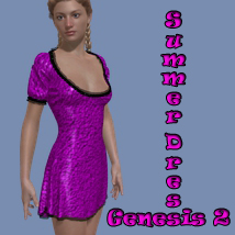 Summer Fun Dress for Genesis 2 Female(s)