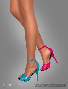 Sandals For Genesis 2 Female(s)