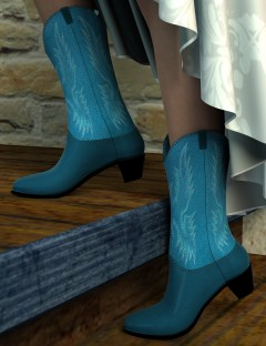Cowboy Boots for Genesis 2 Female(s)