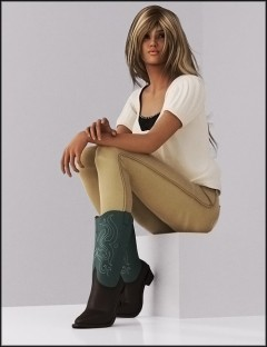 WM Cowboy Boots For Genesis