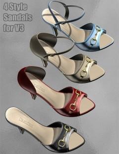 4 Style Sandals for V3
