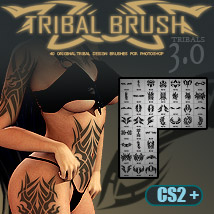 JLL 40 Tribal Brushes 3.0 for Photoshop